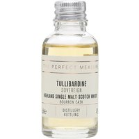 3cl / 43% / The Perfect Measure - Sovereign is Tullibardine's bourbon-cask-aged expression. Rich and spicy with lots of vanilla flavour.