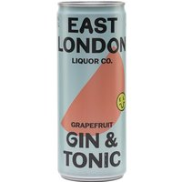 East London Liquor Grapefruit Gin and Tonic (5%) / Single Can