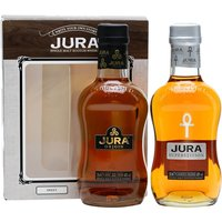 40cl / 41.5% / Distillery Bottling - A set of two 20cl bottles from Isle of Jura. This contains one each of the 10 Year Old Origin and Superstition. This will make a great gift.