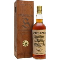 70cl / 46% / Distillery Bottling - A 25 year old bottling  released as part of the Millennium Set of releases from Springbank.  The set comprised whiskies bottled at 25, 30, 35, 40, 45 and 50 years of age.  Anyone who collected the 6 received a free set of miniatures of the same. This was awarded an average of 91 points from 6 of the Malt Maniacs.