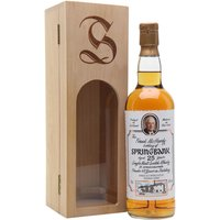 70cl / 46% / Distillery Bottling - A 25 year old bottling of Springbank, specially released to commemorate Frank McHardy's 40 years in distilling.  Presented in a delightful wooden box, each of the 610 bottles is individually numbered and signed by the great man himself.