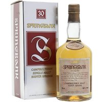 75cl / 46% / Distillery Bottling - A 30-year-old bottling of Springbank.  We estimate that this was bottled in the 1980s, meaning the spirit was produced using barley from the on-site maltings, which closed for the first time in 1960.