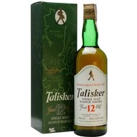 75cl / 43% / Distillery Bottling - An old distillery bottling of Talisker 12 year old from the 1980s, featuring the Johnnie Walker Striding Man at the top of the front label.