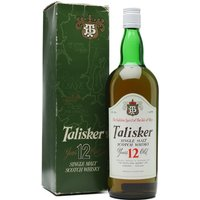 100cl / 43% / Distillery Bottling - A beautiful (and very rare) Talisker 12 year old, bottled at 43% at some point in the 1980s before they switched to their now-habitual 45.8%.  With this being a litre bottle, is it possible that this was an early foray into the duty-free market, perhaps?