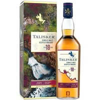 70cl / 45.8% / Distillery Bottling - One of our all-time favourite malts, Talisker 18 Years Old is a masterpiece from one of Scotland's greatest distilleries, and was named 'Best Single Malt Whisky in the World' at the World Whiskies Awards in 2007. Stunning balance of peat, spice and sweetness.