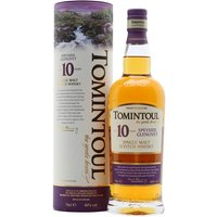 70cl / 40% / Distillery Bottling - The first bottling of Tomintoul to be released after it changed hands in 2000, it's a rounded dram with fruit and toffee, and a peppery finish.
