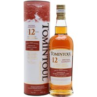70cl / 40% / Distillery Bottling - A twelve year old whisky from Tomintoul, this has been finished in an Oloroso sherry cask and is soft, sweet and creamy.  Great value, as always with this distillery.