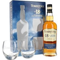 Tomintoul 18 Year Old / Glass Set Speyside Single Malt Scotch Whisky
