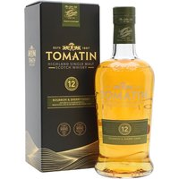 70cl / 43% / Distillery Bottling - A 2016 replacement for the previous sherry-finished expression, this Tomatin 12 Year Old has been aged in a combination of bourbon and sherry casks. The result is a sweet whisky with notes of apples, citrus and sweet spice.