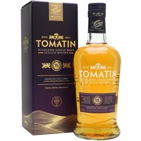 70cl / 46% / Distillery Bottling - Originally released for travel retail, Tomatin 15 Year Old is light and fresh with notes of honey, toffee and spice. A superb easy-drinking whisky.
