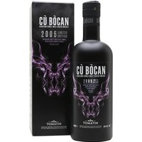 70cl / 46% / Distillery Bottling - Cu Bocan 2005 from Tomatin was matured in a combination of sherry and bourbon casks for more than 11 years. This full-bodied whisky has notes of earth, smoky, dark chocolate, poaches fruits and Christmas pudding.