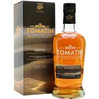 70cl / 46% / Distillery Bottling - Wood is one of the releases in Tomatin's Five Virtues series. This emphasises the effect that oak has on whisky. Matured in a combination of French, American and Hungarian oak, this is rounded and complex with notes of vanilla, orange peel, brown sugar and wood spice.