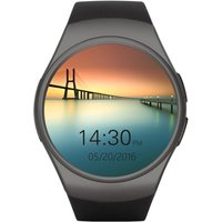 KW18 Bluetooth Heart Rate Smart Wrist Watch 2G GSM MTK2502C 128MB+64MB 1.3 Inches 240*240pixels LCD Screen with Call Reminder Pedometer Sedentary Stopwatch Remote Camera Anti-lost for iPhone 6 6S 6 Plus 6S Plus Samsung S6 S7 S7 edge Motorola LG HTC Sony S