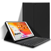Detachable BT Keyboard Case with Elastic Pen Slot Compatible with iPad Pro 10.5/ Air3 10.5 2019/ iPad 10.2 2020 Black