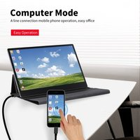 Portable Monitor 15.6'' LED Monitor 4K Ultra Clear IPS Expansion Screen with Case for Switch/PS4/XBOX ONE/PC/Laptop EU Plug