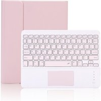 Keyboard Case with Detachable BT Keyboard Touchpad/Pen Slot Compatible with 2019ipad 10.2/ ipad air 10.5/ ipad pro10.5 Pink