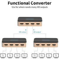 VENTION HD Switcher HD 1 in 4 Splitter with 4K Full HD 1080P 3D Effect for Laptop/STB/XBOX/Projector
