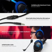 Kingston HyperX Cloud Gaming Head-mounted Gaming Headset with in-Line Audio Control Detachable Microphone for PS4 PS5 Xbox PC
