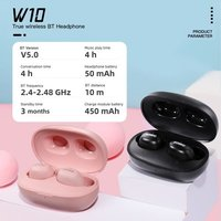 SOMIC W10 True Wireless BT Earphone In-ear Sports Headset BT 5.0 Headphone for iPhone Android Xiaomi Mobile Phone Black