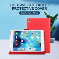 360 Degrees Rotating PU Leather Flip Cover Protective Case For iPad Mini 1/2/3/4/5 Tablet Case Stand Holder Gold