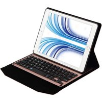 Ultra Thin Wireless BT Keyboard Folding Folio Leather Case Cover Tablet Stand with Auto Sleep / Wake for iPad Pro 9.7