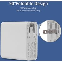 Fast Charge 4 Ports USB Phone Computer iPad Charger Type-C Port Universal Double Holes QC3.0 USB Charger EU Plug