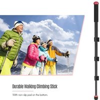 KINGJOY Multifunctional Aluminium Alloy Selfie Stick with Adjustable Phone Clip Mini Ballhead Camera Camcorder Monopod   Unipod Pole Walking Climbing Stick Clip Locking Telescopic 4 Sections for iPhone X/XS/8P Huawei Samsung Action Camera