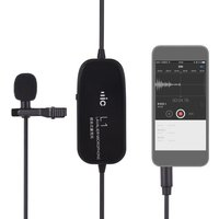 Clip-on Lavalier Omin-directional Condenser Microphone Audio/Video Recording Microphone for iPhone Huawei Smartphone for Canon Nikon Sony DSLR Camera Camcorder for Audio Recorder PC