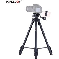 Kingjoy VT-930  145cm/4.8ft Lightweight Portable Camera Video Tripod with Panoramic Head Smartphone Holder Aluminum Alloy Max. Load 3kg/6.6Lbs for Canon Nikon Sony DSLR ILDC for iPhone 7 7plus 6plus for Samsung Huawei Selfie Portrait Film Making