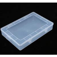 Portable Rectangular Transparent Lastics Box Parts And iPad Laptop Storage Box With Cover