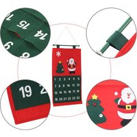 Christmas Santa Advent Calendar X'mas Non-woven Fabric Countdown Wall Hanging Calendar Christmas Decoration Ornaments