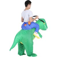 Cute Kids Inflatable Dinosaur Costume Suit Air Fan Operated Walking Fancy Dress Halloween Party Outfit T-Rex Inflatable Animal Costume