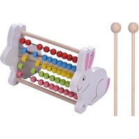 2-in-1 Wooden 8 Notes Xylophone Glockenspiel Abacus Beads