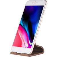 Samdi Walnut Wooden Phone Tablet Stand Holder Dock Station Cradle for iPhone XS X XR Max iPad mini Air Samsung S9 Note 8 Anti-skid Simple Lightweight Portable