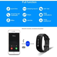 H28 Smart Sport Fitness Bracelet Tracker 0.86inch OLED Screen Display DA14580 Chip BLE4.0 50mAh Battery Intelligent Sports Band Pedometer Calories Heart Rate Sleep Monitor Call Reminder Camera/Music Control Wrist Band for iPhone 6 6S Plus Samsung S6 S7 Pl