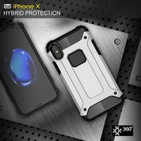 For iPhone X Case Slim Fit Dual Layer Hard Back Cover Bumper Protective Shock-Absorption & Skid-proof Anti-Scratch Case for Apple iPhone X 5.5 inch