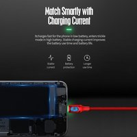 ROCK 3.3ft/100cm Lightning Metal Auto Disconnect Data Cable USB Lightning Fast Charge Sync Cable for iPhone iPad