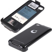 Dual SIM Backup Battery Case Cover for iPhone 4G