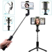 Panoramic Photos Selfie Stick Tripod Stand 360 Degree Automatic Rotation for Panoramic Photos 33ft Wireless Remote Control Selfie Stick Compatible with iPhone and Most Android Phones
