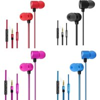 VYKON MK-2 3.5 mm In-ear Earphones with Microphone & 1.2 m Cable for iPhone iPod iPad Mp3 Mp4 Rose Red