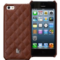 Jisoncase Matelasse Genuine Leather Case for iPhone 5