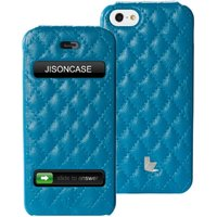 Jisoncase Flip Matelasse Leather Case Cover for iPhone 5