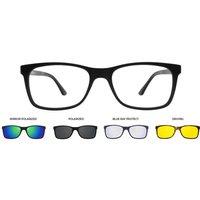 SmartBuy Collection Eyeglasses Cyan Clip On Four Set U 0221 M02
