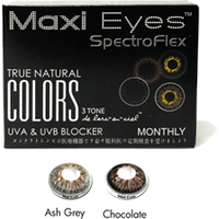 Maxi Eyes True Natural Colors 3 Tone Monthly 2 Pack Contact Lenses