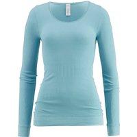 hessnatur Damen Langarm-Shirt aus Bio-Baumwolle – blau – Größe 38