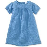 hessnatur Baby Kleid aus Bio-Baumwolle - blau - Größe 62/68