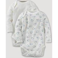 hessnatur Baby Langarmbody 2er-Set aus Bio-Baumwolle – bunt – Größe 62/68