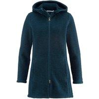 hessnatur Outdoor Wollfleece Mantel aus Bio-Merinowolle – grün – Größe 42