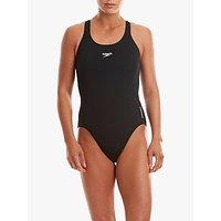 Speedo Endurance+ Medalist Swimsuit, Black