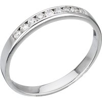 shop for E.W Adams 18ct Gold Diamond Half Eternity Ring, White Gold at Shopo